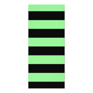 Stripes - Black and Light Green Invitation