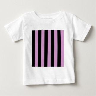 Stripes - Black and Light Medium Orchid Baby T-Shirt