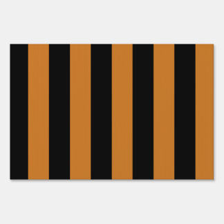 Stripes - Black and Ochre Lawn Signs