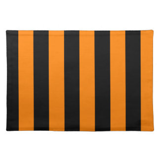 Stripes - Black and Orange Placemat