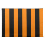 Stripes - Black and Orange Placemats