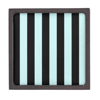 Stripes - Black and Pale Blue Premium Gift Box