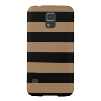 Stripes - Black and Pale Brown Case For Galaxy S5