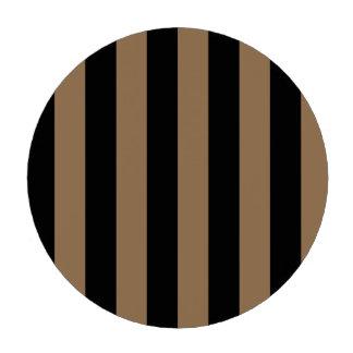 Stripes - Black and Pale Brown Poker Chip Set