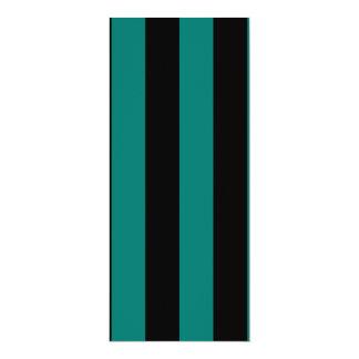 Stripes - Black and Pine Green Custom Invitations