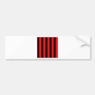 Stripes - Black and Red Bumper Sticker