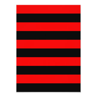 "Stripes - Black and Red 5.5"" X 7.5"" Invitation Card"