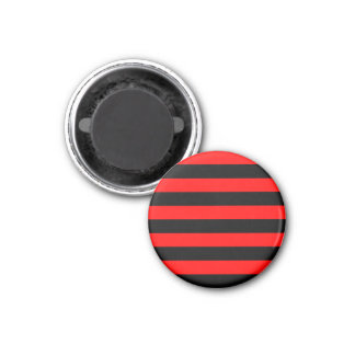 Stripes - Black and Red Magnet