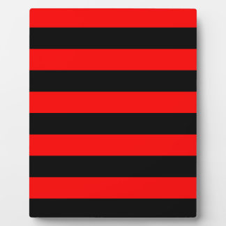 Stripes - Black and Red Plaque