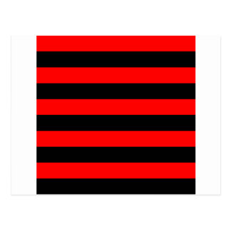 Stripes - Black and Red Postcard