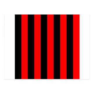 Stripes - Black and Red Postcards