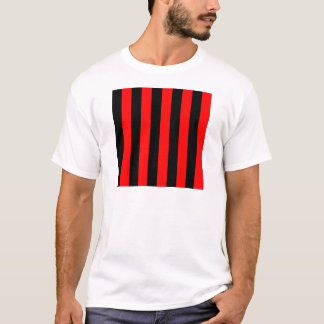 Stripes - Black and Red T-Shirt