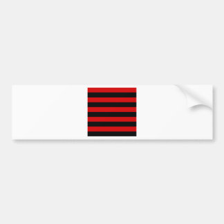 Stripes - Black and Rosso Corsa Bumper Sticker