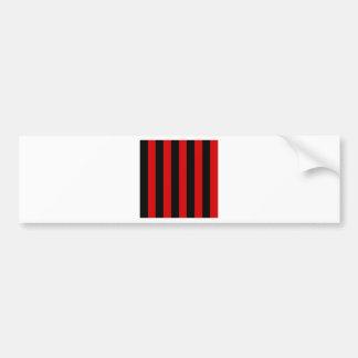 Stripes - Black and Rosso Corsa Bumper Sticker