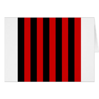 Stripes - Black and Rosso Corsa Greeting Cards
