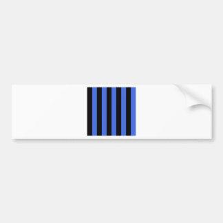Stripes - Black and Royal Blue Car Bumper Sticker