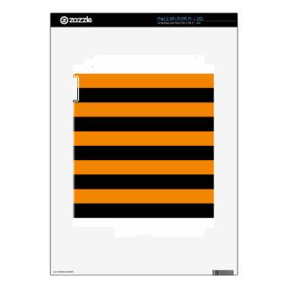Stripes - Black and Tangerine iPad 2 Decal