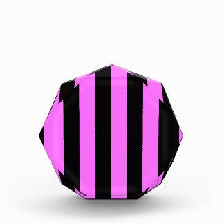 Stripes - Black and Ultra Pink Acrylic Award