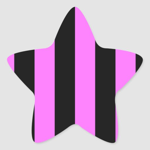 Stripes - Black and Ultra Pink Stickers