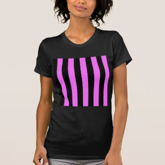 Stripes - Black and Ultra Pink T-Shirt