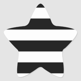 Stripes - Black and White Star Sticker