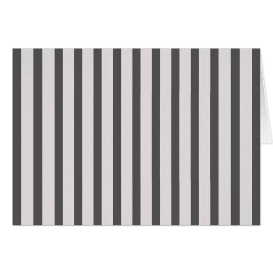 Stripes Black & White Card