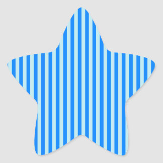 Stripes - Blue 1 - Blizzard Blue and Azure Star Sticker