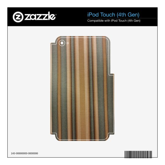Stripes -- Blue and Gold Skin For iPod Touch 4G