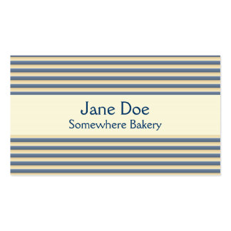 Stripes Blue Business Card