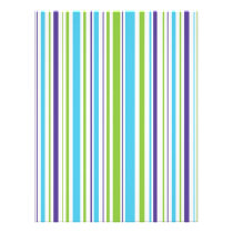 Stripes Blue Purple Green Baby Scrapbook Paper
