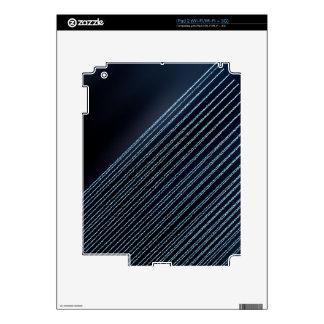 Stripes - blue Sparkles & Glitter iPad 2 Skin