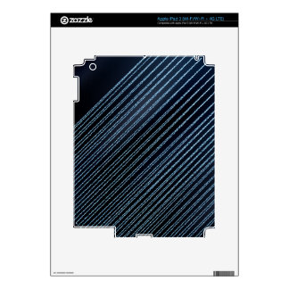 Stripes - blue Sparkles & Glitter Skins For iPad 3