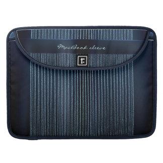 Stripes - blue Sparkles & Glitter Sleeves For MacBooks