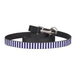 Stripes blue & white stylish dog leash