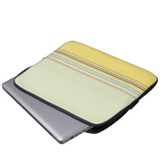 Stripes Bold and Subtle - Yellow and Green Laptop Computer Sleeve