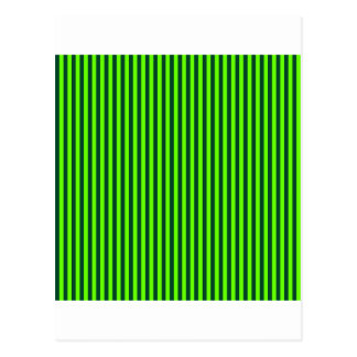 Stripes - Bright Green and British Racing Green Postcard