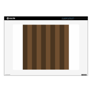 "Stripes - Brown and Dark Brown 15"" Laptop Skin"