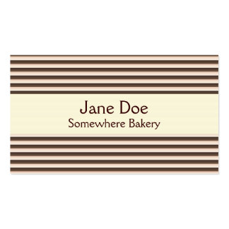Stripes Brown Business Card
