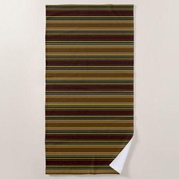 Beach Themed Stripes Browns Modern Beach Towel