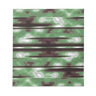 Stripes Camo Pattern Print Notepad