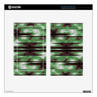 Stripes Camo Pattern Print Skin For Kindle Fire