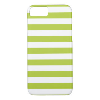 Stripes Chartreuse Green iPhone 7 case
