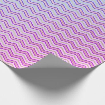 McTiffany Tiffany Aqua Stripes Chevron Lines Vivid Pink Tiffany Aqua Blue Wrapping Paper