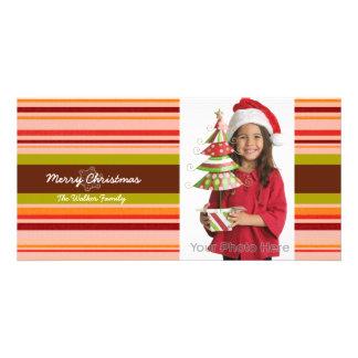Stripes christmas holiday photo card