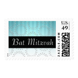 Stripes, Circles, and Style Bat Mitzvah Postage