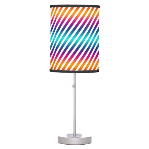 Stripes Colorful Make Your Own Background Table Lamp