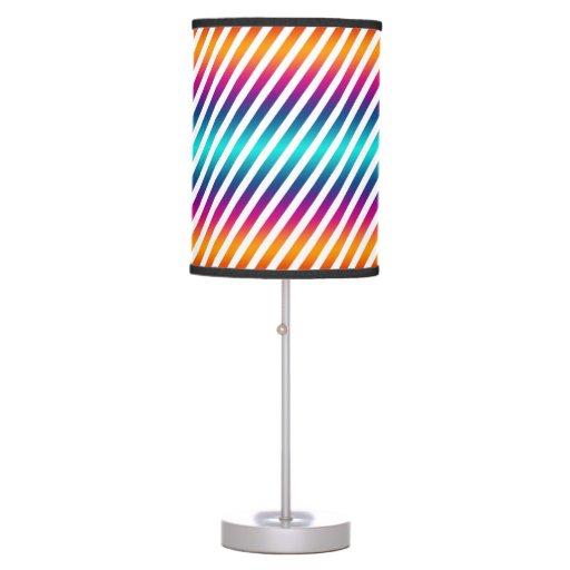 stripes colorful make your own background table lamp. Black Bedroom Furniture Sets. Home Design Ideas