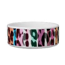 Stripes colorful seamless animal print texture bowl