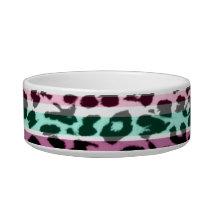 Stripes colorful seamless animal skin texture bowl