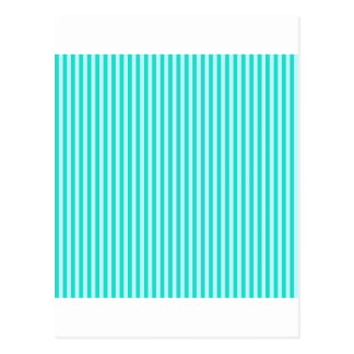 Stripes - Cyan - Celeste and Turquoise Postcard